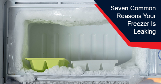 Common reasons for a leaking freezer